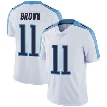 Men's Nike Tennessee Titans A.J. Brown White Vapor Untouchable Jersey - Limited