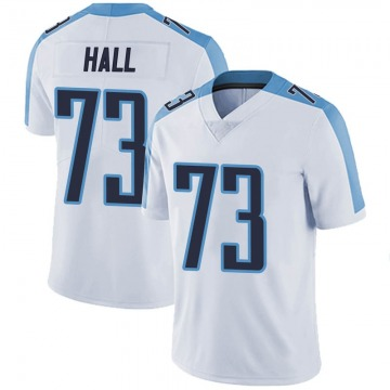 Men's Nike Tennessee Titans A.T. Hall White Vapor Untouchable Jersey - Limited