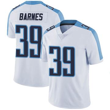 Men's Nike Tennessee Titans Alex Barnes White Vapor Untouchable Jersey - Limited