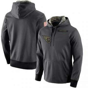 Men's Nike Tennessee Titans Anthracite Salute to Service Player Performance Hoodie -
