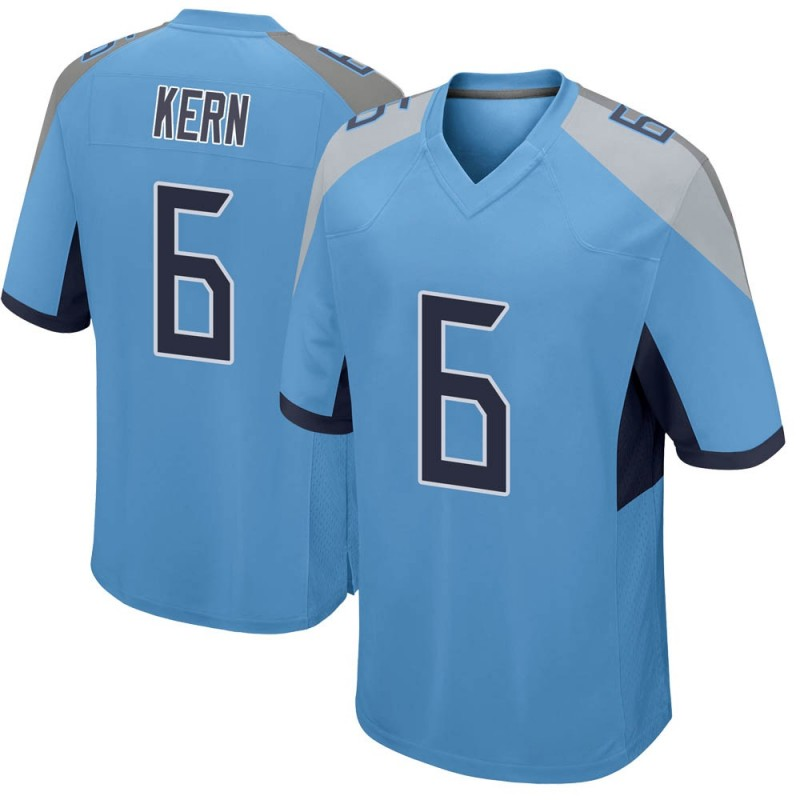 Men's Nike Tennessee Titans Brett Kern Light Blue Jersey - Game