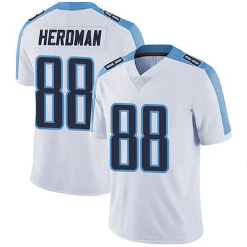 Men's Nike Tennessee Titans Cole Herdman White Vapor Untouchable Jersey - Limited