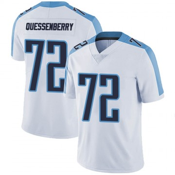 Men's Nike Tennessee Titans David Quessenberry White Vapor Untouchable Jersey - Limited