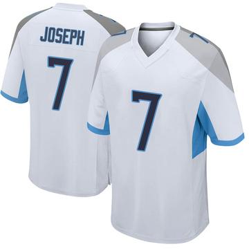 Men's Nike Tennessee Titans Greg Joseph White Jersey - Game