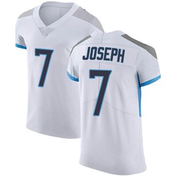 Men's Nike Tennessee Titans Greg Joseph White Vapor Untouchable Jersey - Elite