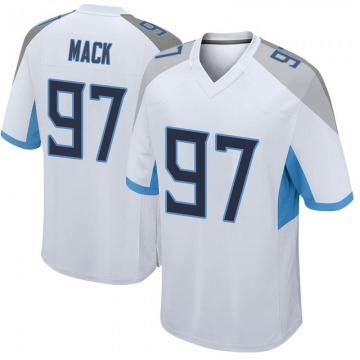 Men's Nike Tennessee Titans Isaiah Mack White Jersey - Game