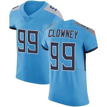 Men's Tennessee Titans Jadeveon Clowney Light Blue Team Color Vapor Untouchable Jersey - Elite