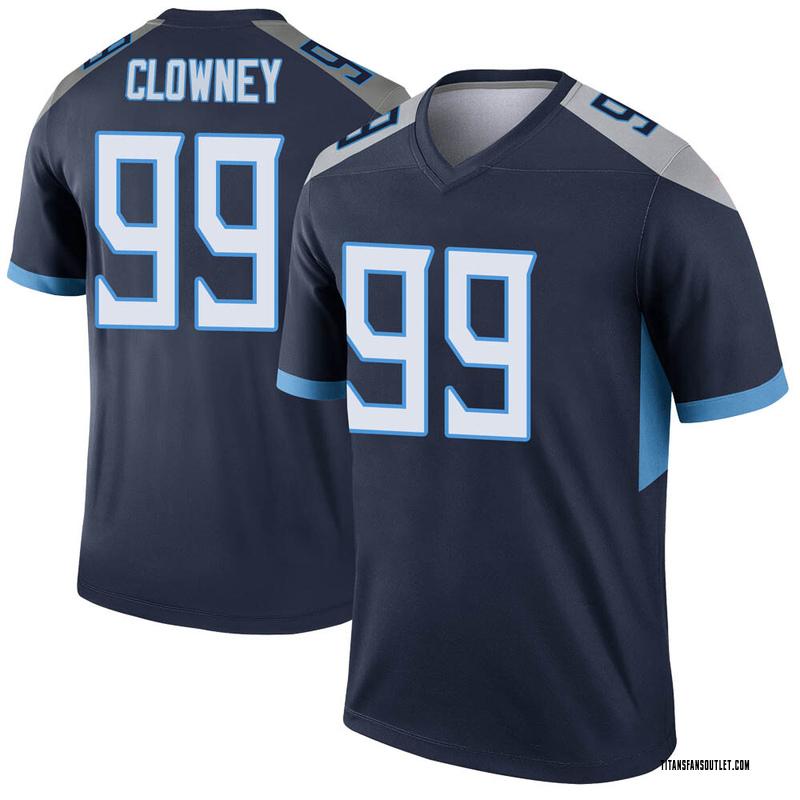 Men's Nike Tennessee Titans Jadeveon Clowney Navy Jersey - Legend