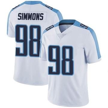 Men's Nike Tennessee Titans Jeffery Simmons White Vapor Untouchable Jersey - Limited