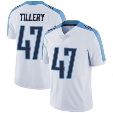 Men's Nike Tennessee Titans JoJo Tillery White Vapor Untouchable Jersey - Limited