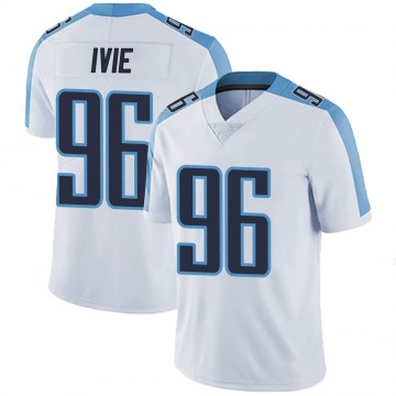 Men's Nike Tennessee Titans Joey Ivie White Vapor Untouchable Jersey - Limited