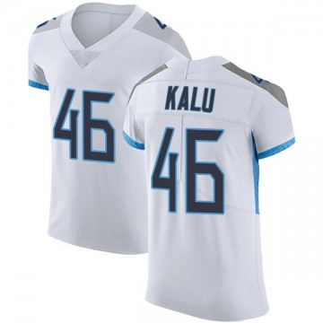 Men's Nike Tennessee Titans Joshua Kalu White Vapor Untouchable Jersey - Elite