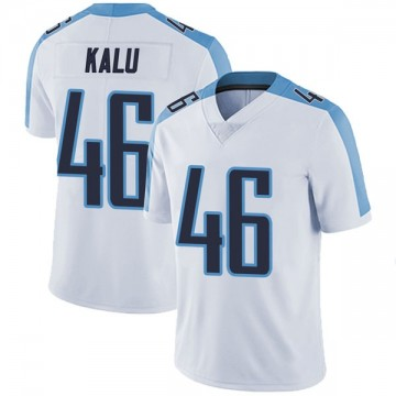 Men's Nike Tennessee Titans Joshua Kalu White Vapor Untouchable Jersey - Limited