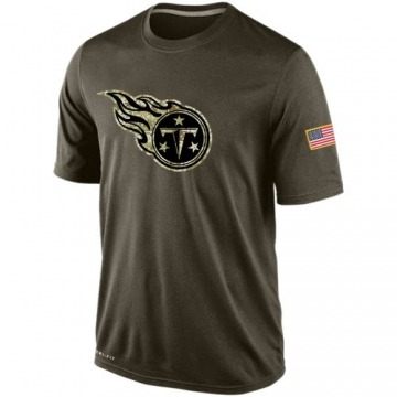 Men's Tennessee Titans Olive Salute To Service KO Performance Dri-FIT T-Shirt -