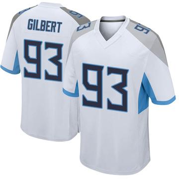 Men's Nike Tennessee Titans Reggie Gilbert White Jersey - Game