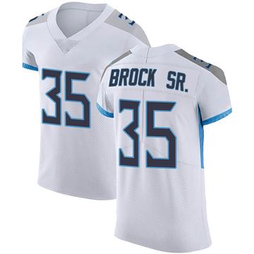 Men's Nike Tennessee Titans Tramaine Brock White Vapor Untouchable Jersey - Elite
