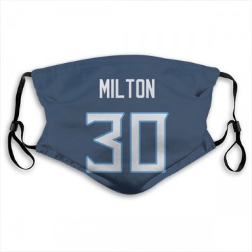 Tennessee Titans Chris Milton Navy Jersey Name & Number Face Mask