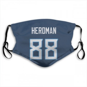 Tennessee Titans Cole Herdman Navy Jersey Name & Number Face Mask