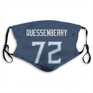 Tennessee Titans David Quessenberry Navy Jersey Name & Number Face Mask
