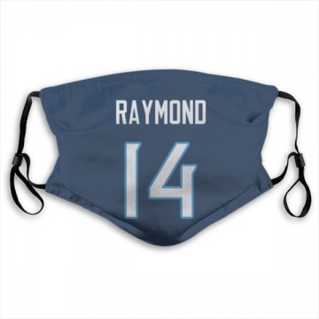 Tennessee Titans Kalif Raymond Navy Jersey Name & Number Face Mask