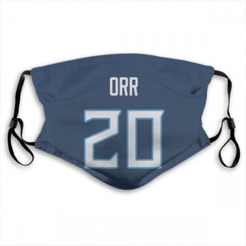 Tennessee Titans Kareem Orr Navy Jersey Name & Number Face Mask