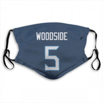 Tennessee Titans Logan Woodside Navy Jersey Name & Number Face Mask