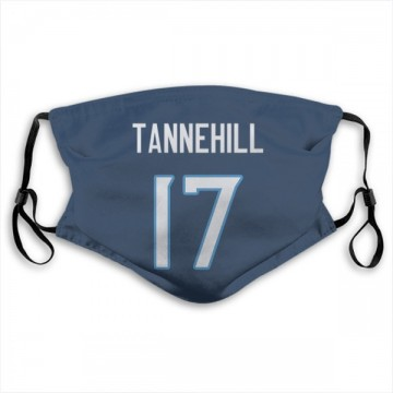 Tennessee Titans Ryan Tannehill Navy Jersey Name & Number Face Mask