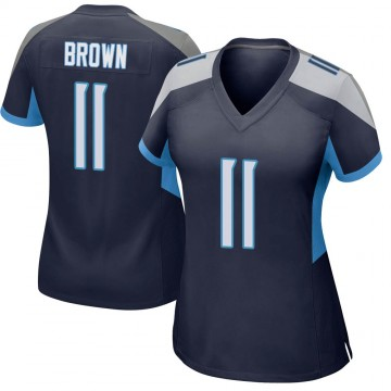 Women's Nike Tennessee Titans A.J. Brown Brown Navy Jersey - Game