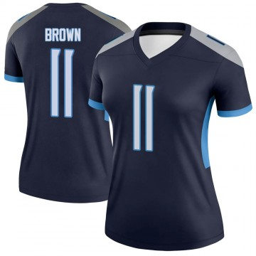 Women's Nike Tennessee Titans A.J. Brown Brown Navy Jersey - Legend