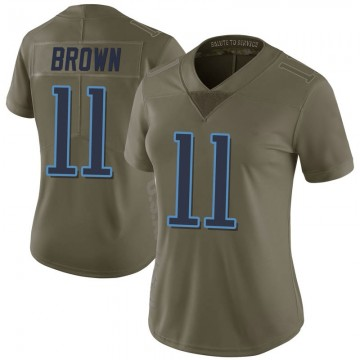 Women's Nike Tennessee Titans A.J. Brown Green 2017 Salute to Service Jersey - Limited