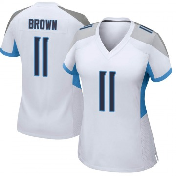 Women's Nike Tennessee Titans A.J. Brown White Jersey - Game