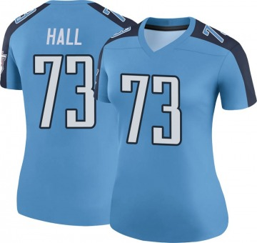 Women's Nike Tennessee Titans A.T. Hall Light Blue Color Rush Jersey - Legend