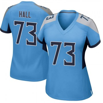 Women's Nike Tennessee Titans A.T. Hall Light Blue Jersey - Game