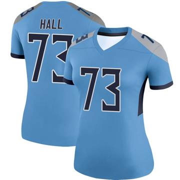 Women's Nike Tennessee Titans A.T. Hall Light Blue Jersey - Legend