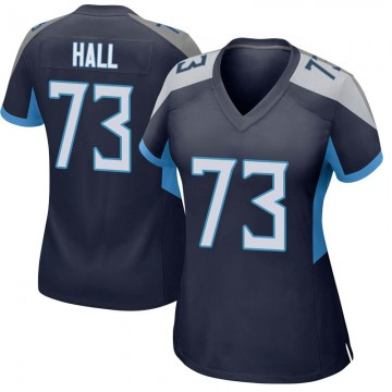 Women's Nike Tennessee Titans A.T. Hall Navy Jersey - Game