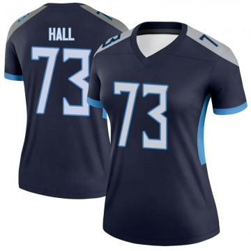 Women's Nike Tennessee Titans A.T. Hall Navy Jersey - Legend