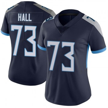 Women's Nike Tennessee Titans A.T. Hall Navy Vapor Untouchable Jersey - Limited