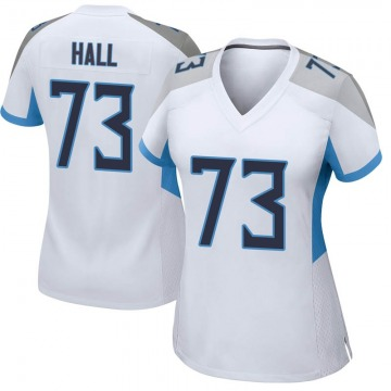 Women's Nike Tennessee Titans A.T. Hall White Jersey - Game