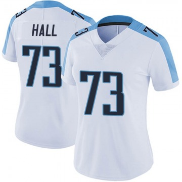 Women's Nike Tennessee Titans A.T. Hall White Vapor Untouchable Jersey - Limited