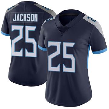 Women's Nike Tennessee Titans Adoree' Jackson Navy Vapor Untouchable Jersey - Limited