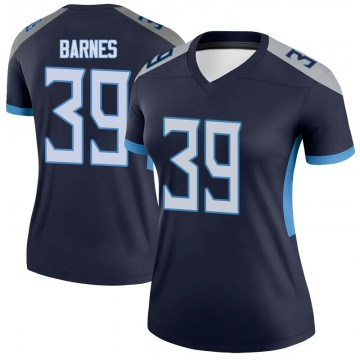 Women's Nike Tennessee Titans Alex Barnes Navy Jersey - Legend