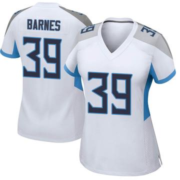 Women's Nike Tennessee Titans Alex Barnes White Jersey - Game