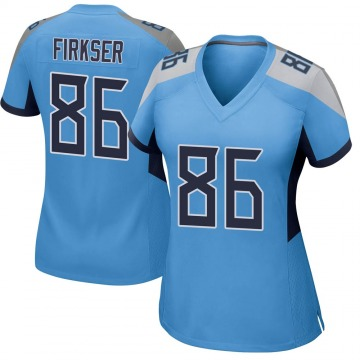 Women's Nike Tennessee Titans Anthony Firkser Light Blue Team Color Jersey - Game