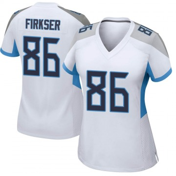 Women's Nike Tennessee Titans Anthony Firkser White Jersey - Game