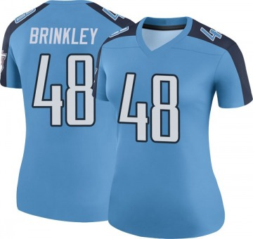 Women's Nike Tennessee Titans Beau Brinkley Light Blue Color Rush Jersey - Legend