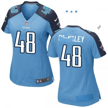 Women's Nike Tennessee Titans Beau Brinkley Light Blue Team Color Jersey - Game