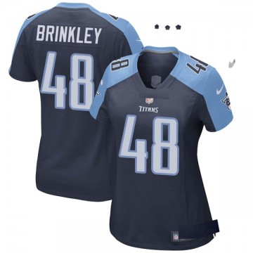 Women's Nike Tennessee Titans Beau Brinkley Navy Blue Alternate Jersey - Game