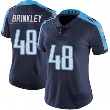 Women's Nike Tennessee Titans Beau Brinkley Navy Blue Alternate Vapor Untouchable Jersey - Limited