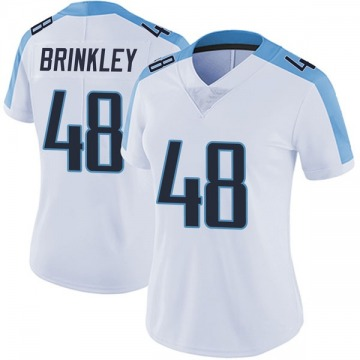 Women's Nike Tennessee Titans Beau Brinkley White Vapor Untouchable Jersey - Limited