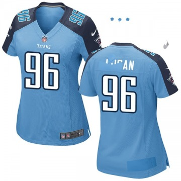 Women's Nike Tennessee Titans Bennie Logan Light Blue Team Color Jersey - Game